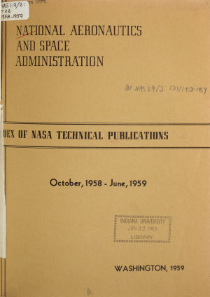 Index of NASA Technical Publications PDF