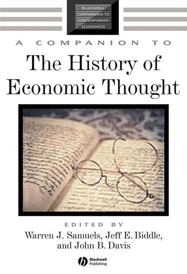 A Companion to the History of Economic Thought PDF