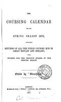 The Coursing calendar  ed  by  Stonehenge   PDF