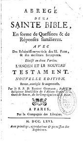 Abregé de la sainte Bible: en forme de questions et de résponses familières