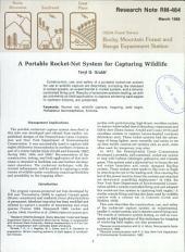 A portable rocket-net system for capturing wildlife