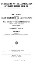 Investigation of the Assassination of Martin Luther King  Jr PDF