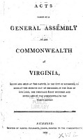 Acts and Joint Resolutions of the General Assembly of the Commonwealth of Virginia PDF