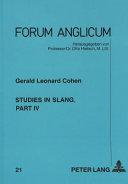 Studies in Slang PDF