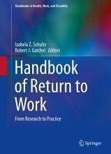 Handbook of Return to Work PDF