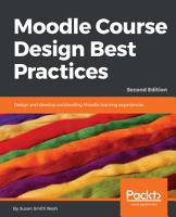 Moodle Course Design Best Practices PDF