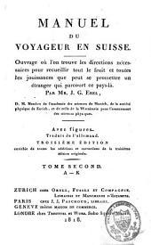 Manuel du voyageur en Suisse: Volume2