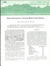 Basal area growth of Arizona mixed conifer species