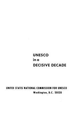 UNESCO in a Decisive Decade