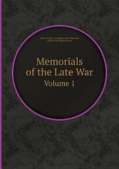 Memorials of the Late War