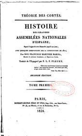 Histoire des grandes assemblées nationales d'Espagne avec des observations sur la Constitution de 1812
