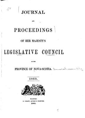 Journals and Proceedings of the House of Assembly of the Province of Nova Scotia PDF