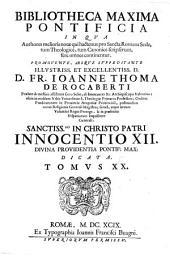 Bibliotheca maxima pontificia in qua authores melioris notae qui hactenus pro Sancta Romana Sede, tum Theologice, tum Tanonice scripserunt, fere omnes continentur: Volume 20