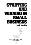 Starting And Winning In Small Business Book PDF