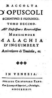 Raccolta d'opusculi scientifici, e filologici (pubblicata da Angelo Calogera)