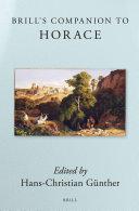 Brill's Companion to Horace