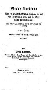 Mineralogische Schriften: De natura aeorum, quae effluunt ex terra. Von den Eigenschaften der Körper, die aus dem Innern der Erde auf die Oberfläche hervordringen, Band 2