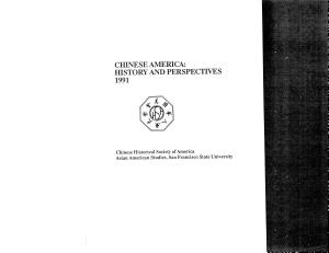 Chinese America  History and Perspectives 1991