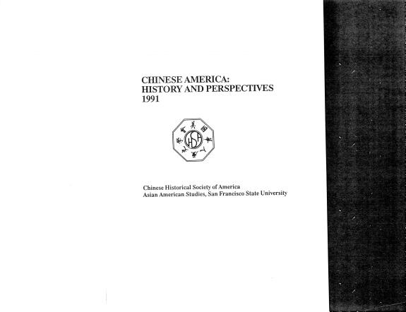 Chinese America  History and Perspectives 1991 PDF