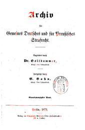 Archiv für gemeines deutsches und für preußisches Strafrecht: Band 3