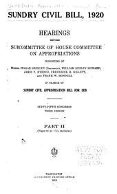 Sundry Civil Bill, 1920: Part 2