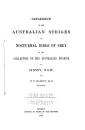 Catalogue of the Australian Birds in the Australian Museum, at Sydney, N.S.W.