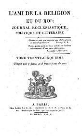 L'Ami de la religion: journal ecclésiastique, politique et littéraire, Volume35
