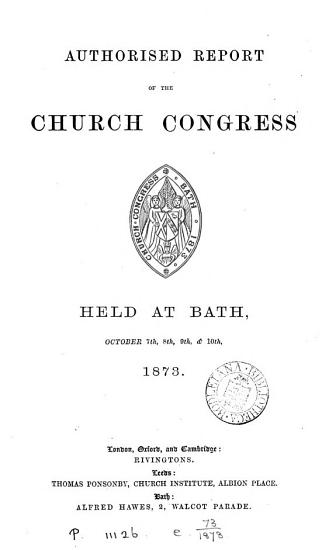 Authorized Report of the Proceedings of the Church Congress Held at     on     PDF