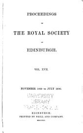 Proceedings of the Royal Society of Edinburgh