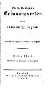Erbauungsreden an die akademische Jugend. 2. verb., verm. Aufl