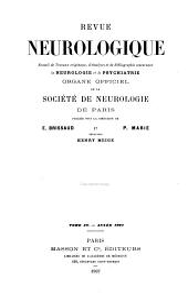 Revue neurologique: Volume15