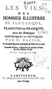 Les Vies Des Hommes Illustres de Plutarque: Volume 5