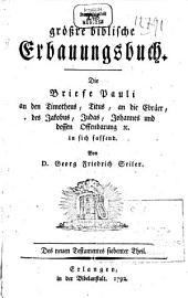 Das größre biblische Erbauungsbuch: Band 2;Band 7