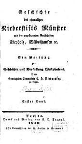 Geschichte des ehemaligen Niederstifts Münster und der angränzenden Grafschaften Diepholz, Wildeshausen ...