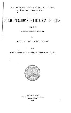 Field Operations of the Bureau of Soils