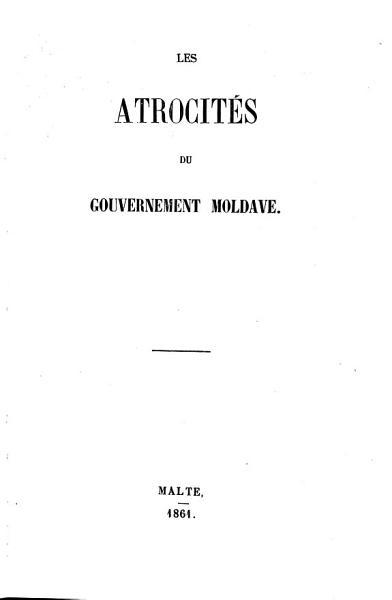 Les atrocit  s du gouvernement moldave