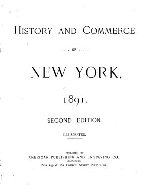 History and Commerce of New York  1891 PDF