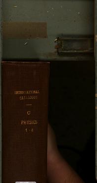 International Catalogue of Scientific Literature PDF