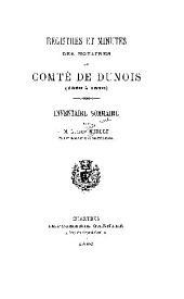 Registres et minutes des notaires du comte de Dunois (1369-à 1676).