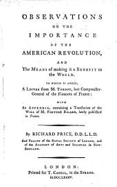 Observations on the Importance of the American Revolution and the Means of Making it a Benefit to the World (etc.)
