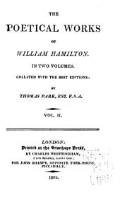 The Poetical Works of William Hamilton: Collated with the Best Editions, Volume 2