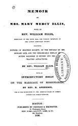 Memoir Of Mrs Mary Mercy Ellis Book PDF
