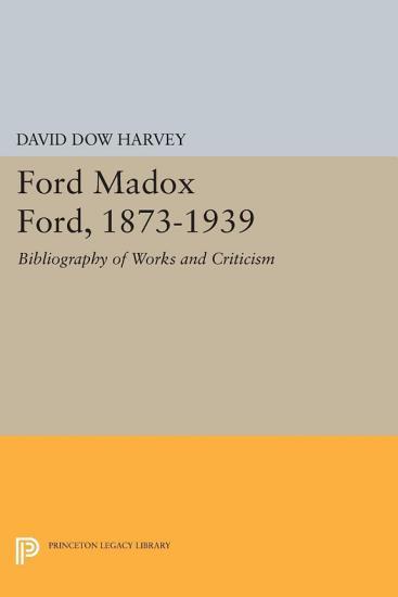 Ford Madox Ford  1873 1939 PDF