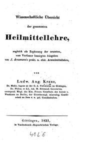 Wissenschaftliche Übersicht der gesammten Heilmittellehre (etc.)
