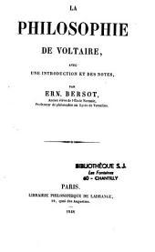 La philosophie de Voltaire: extraits avec intro. et notes