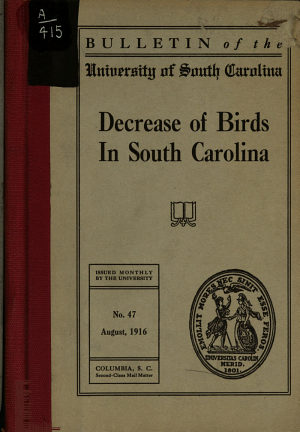 The Decrease of Birds in South Carolina PDF