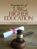 Encyclopedia of Law and Higher Education PDF