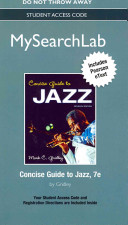 Mysearchlab with Pearson Etext    Standalone Access Code    For Concise Guide to Jazz