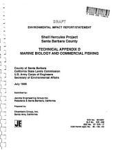 Shell Hercules Offshore Project, Santa Barbara County: Environmental Impact Statement