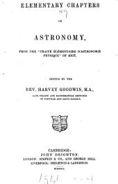 Elementary chapters in astronomy, from the 'Traité élémentaire d'astronomie physique', ed. by H. Goodwin